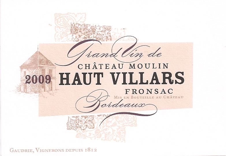Château Moulin Haut Villars 2009