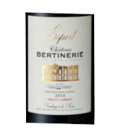 Château Bertinerie rouge étiquettee
